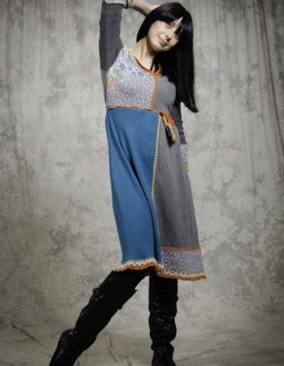 Frajla-haljina-midi-plava